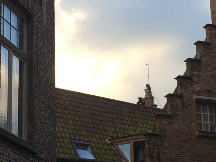 And take five identical stalker photos of the same gargoyle.