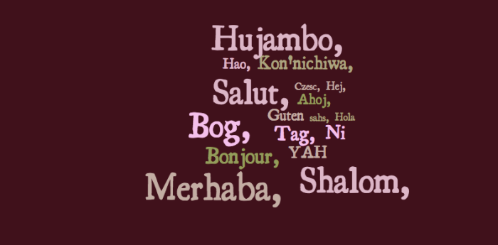 Hello in Langages of the World