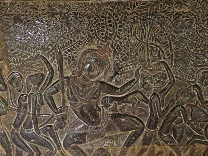 Angkor Wat Carvings Sunrise