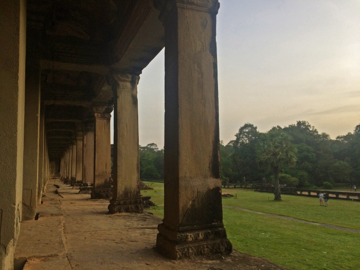 Arcade running along the outside of Angkor Wat Temple