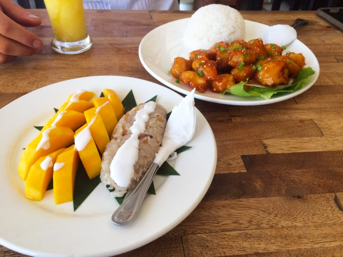 cambodian cuisine honey chicken and mango sticky rice
