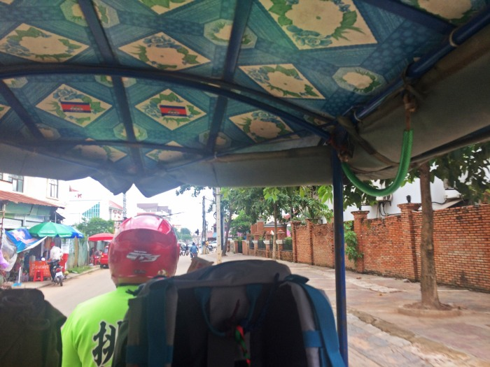 tuk tuk on the streets of Siem Reap