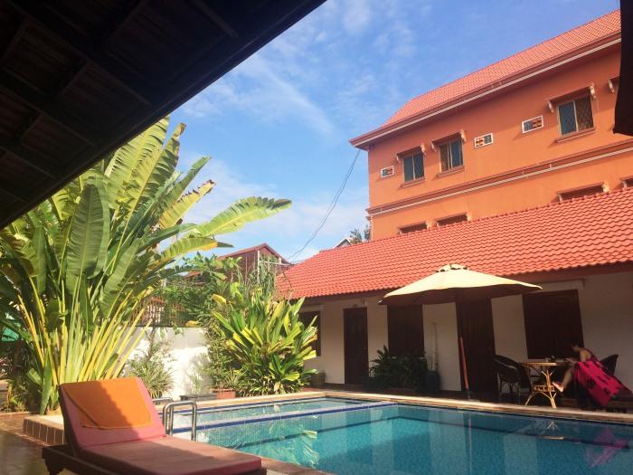 the pool at villa sweet siem reap angkor hotel