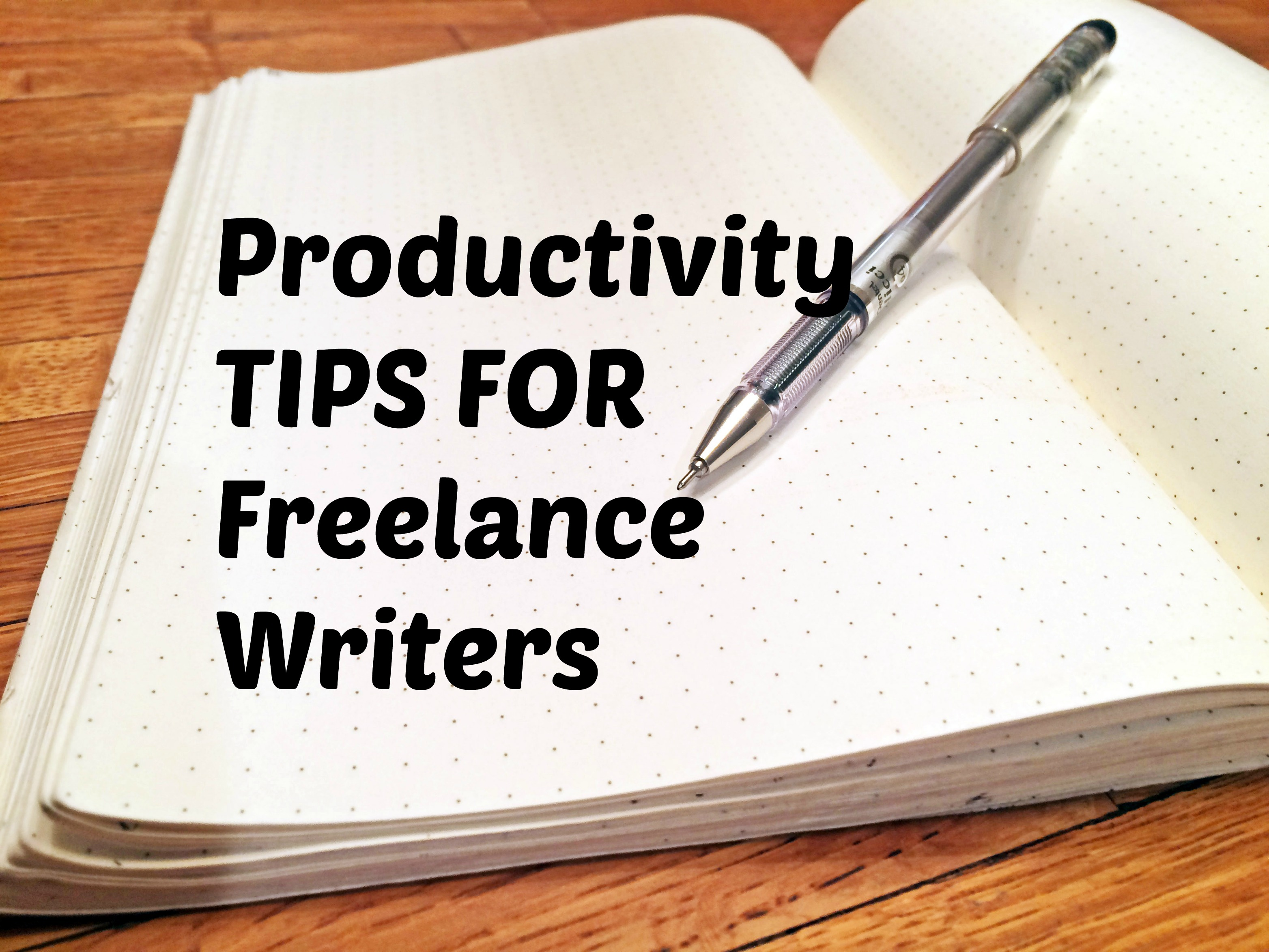 5 steps to productivity for lance writers noun conformist i make my living on the internet working for a variety of different sites and companies which means making my own hours and picking my own work