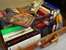 books suitcase book packing travel